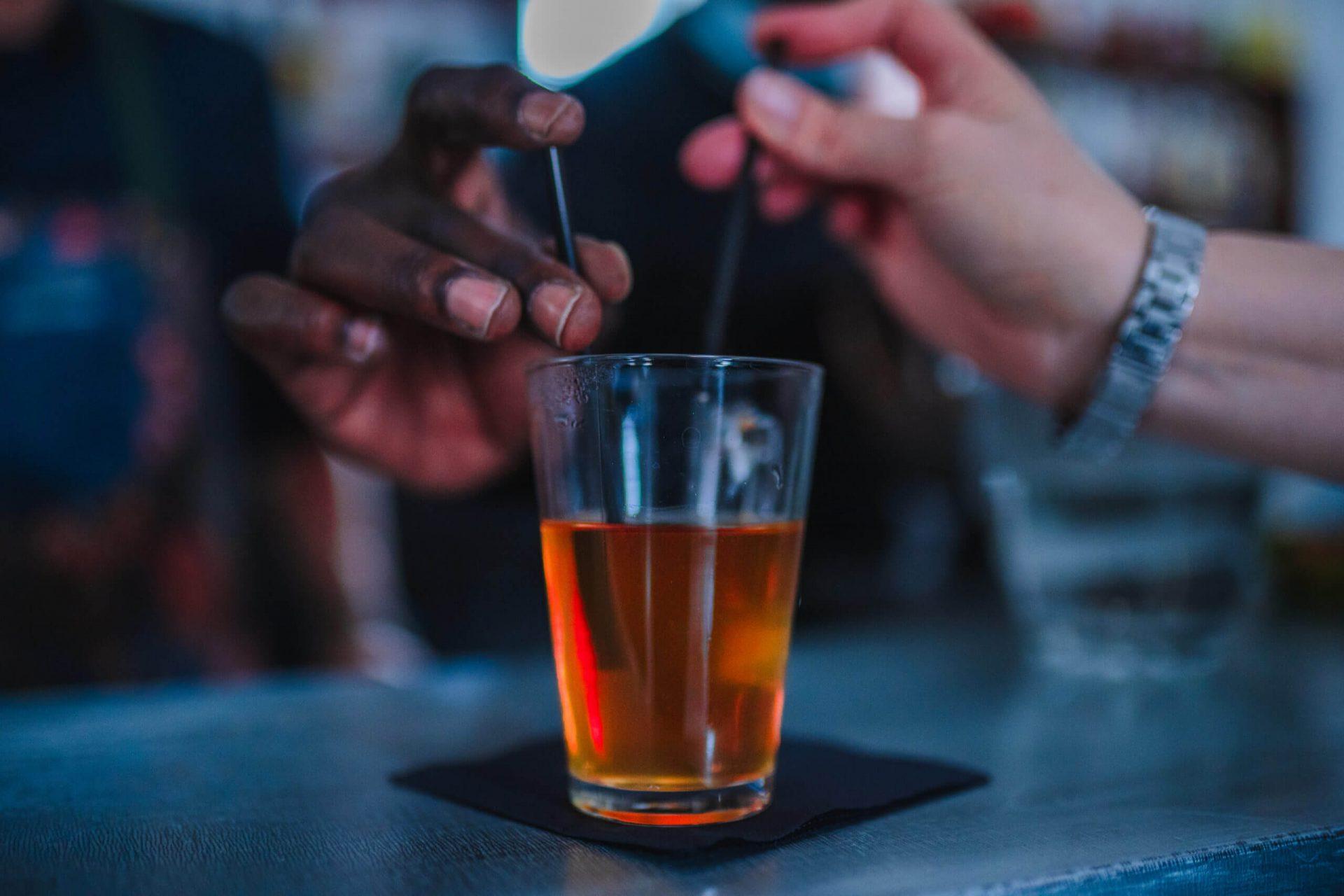 Verre contenant une liqueur